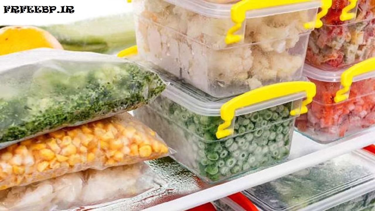 بسته بندی میوه و سبزیجات به روش انجماد